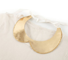Gold leather and glitter collar